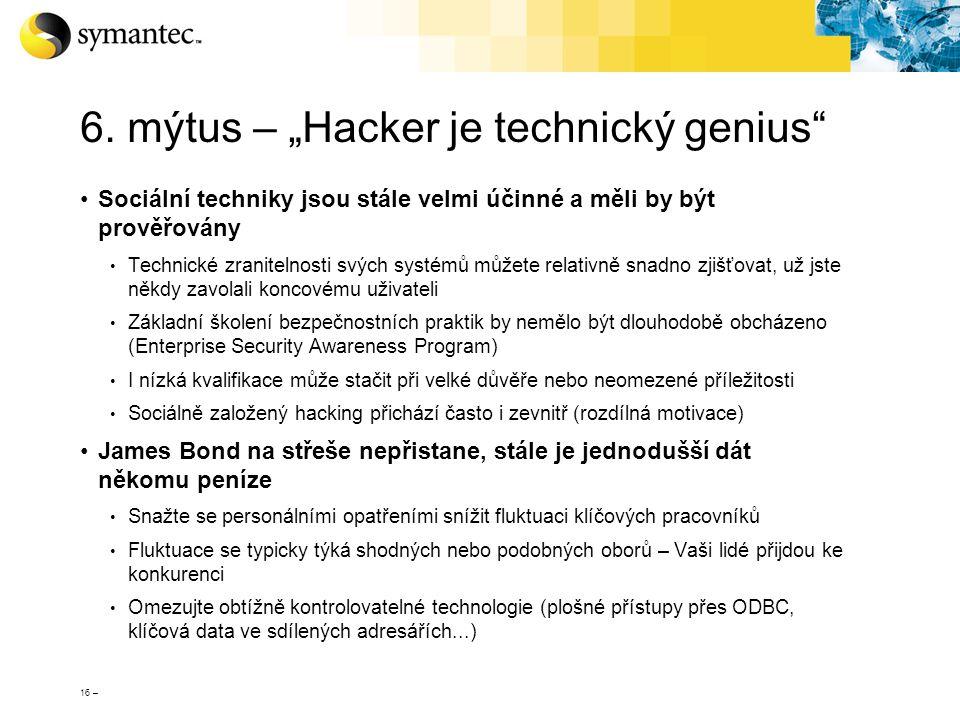 """6. mýtus – """"Hacker je technický genius"""