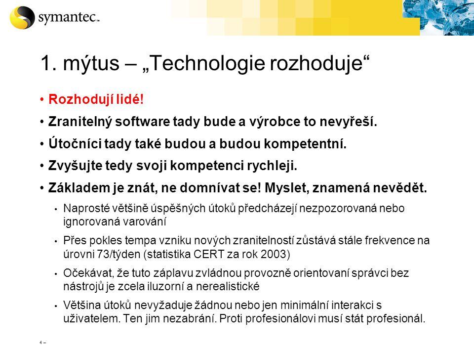 """1. mýtus – """"Technologie rozhoduje"""