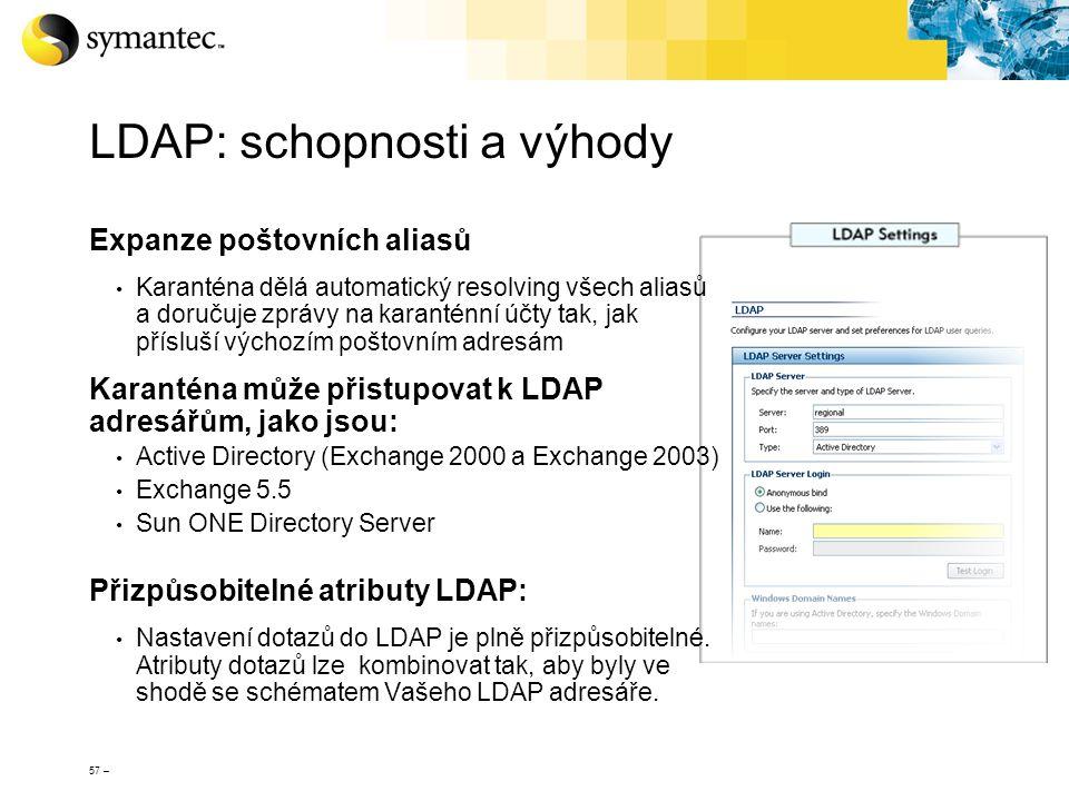 LDAP: schopnosti a výhody