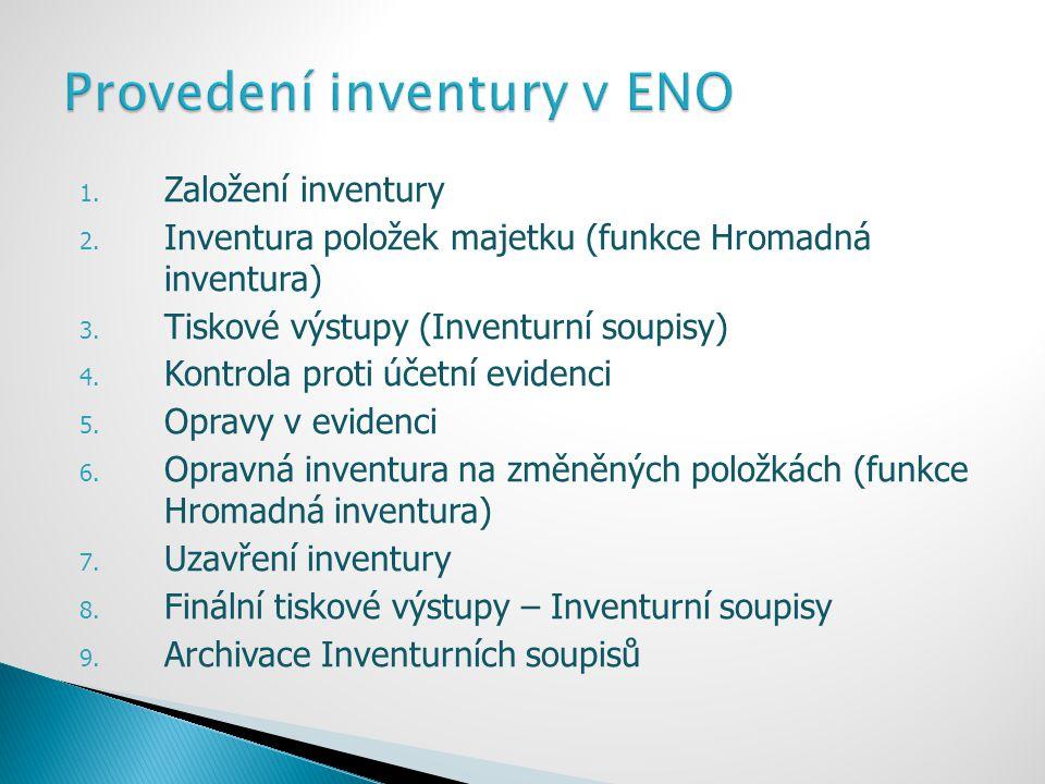 Provedení inventury v ENO