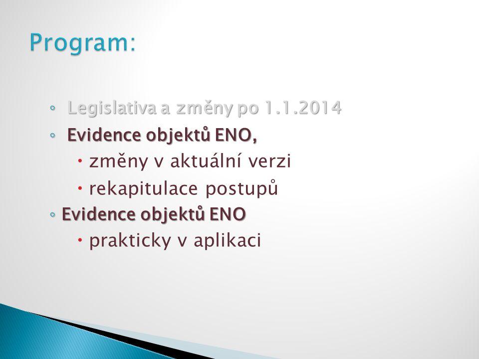 Program: změny v aktuální verzi rekapitulace postupů