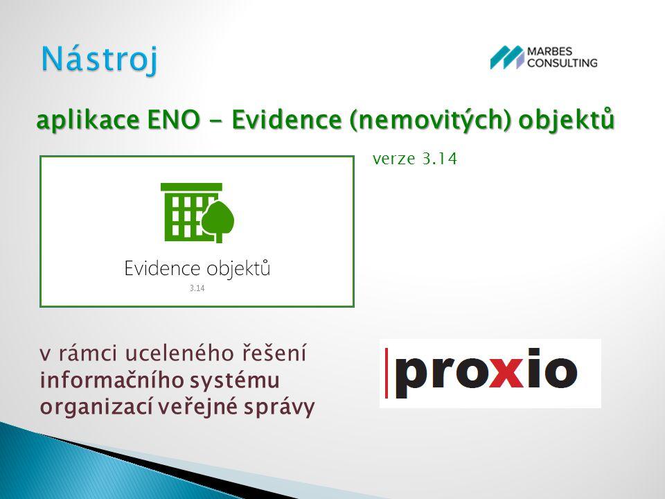 Nástroj aplikace ENO - Evidence (nemovitých) objektů verze 3.14
