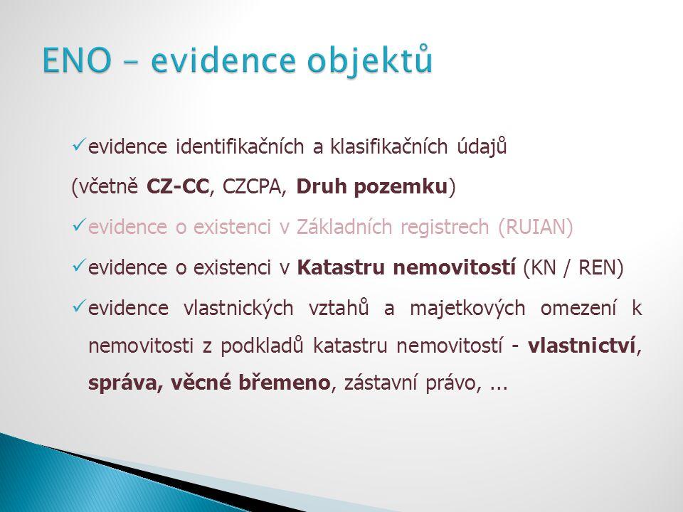 ENO – evidence objektů evidence identifikačních a klasifikačních údajů