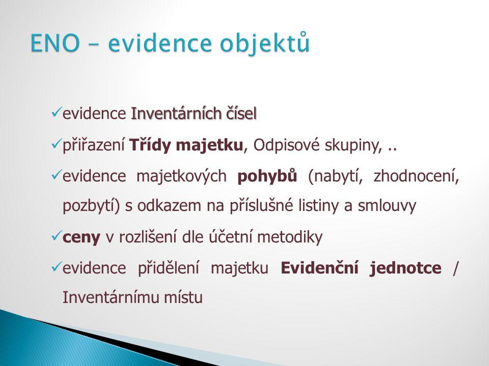 ENO – evidence objektů evidence Inventárních čísel