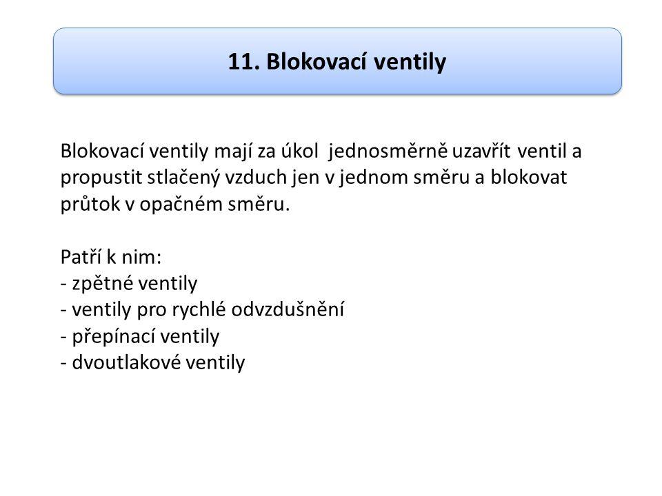 11. Blokovací ventily