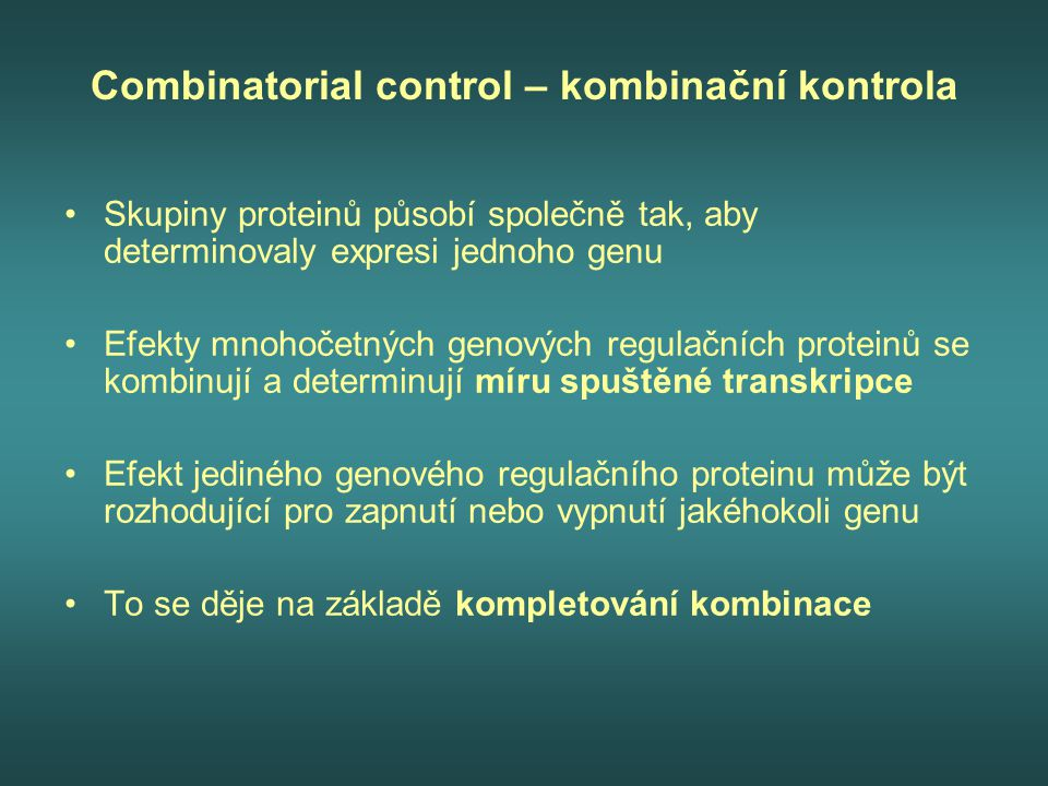 Combinatorial control – kombinační kontrola