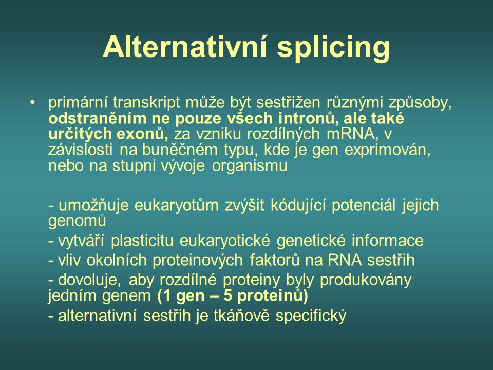 Alternativní splicing