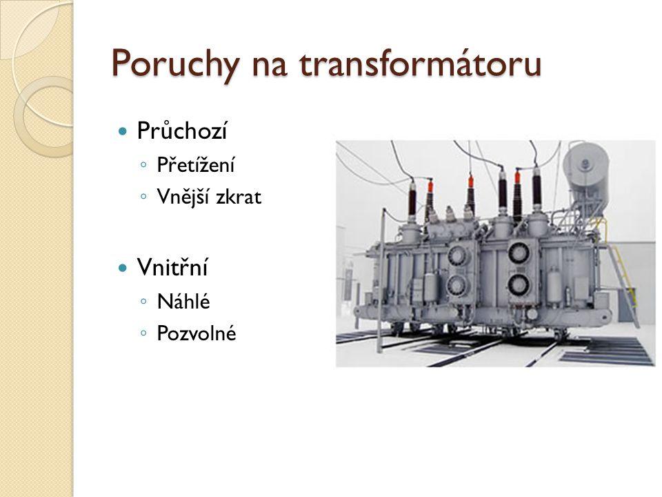 Poruchy na transformátoru