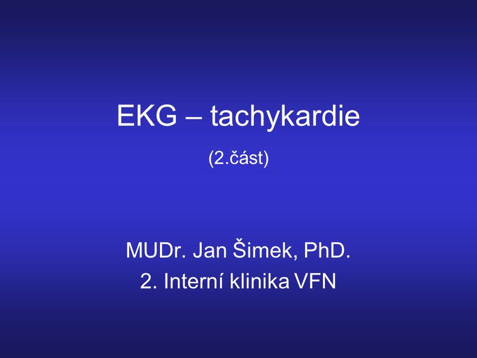 EKG – tachykardie (2.část)