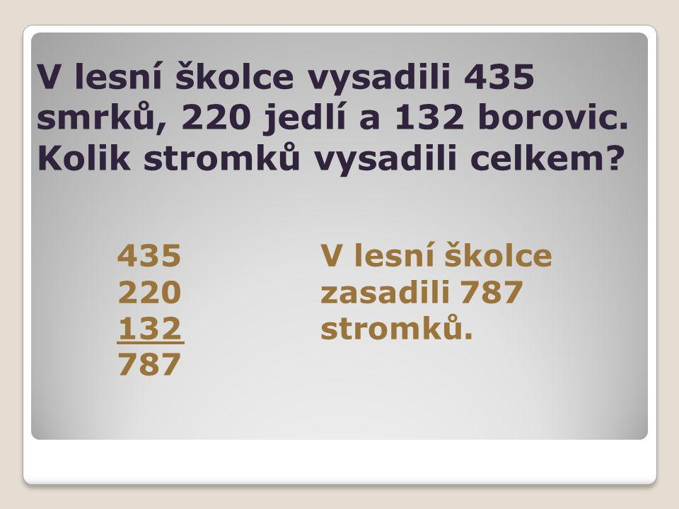 V lesní školce vysadili 435 smrků, 220 jedlí a 132 borovic