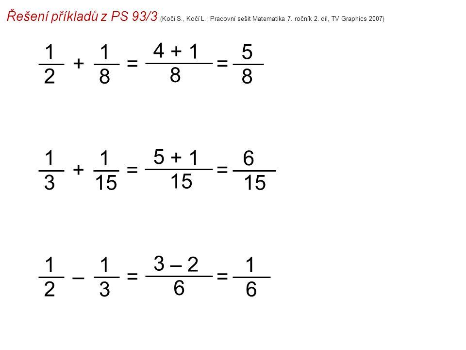 Řešení příkladů z PS 93/3 (Kočí S. , Kočí L