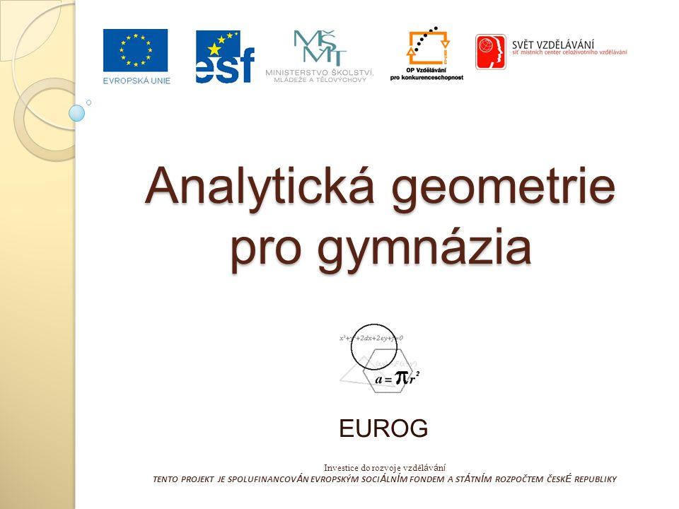 Analytická geometrie pro gymnázia