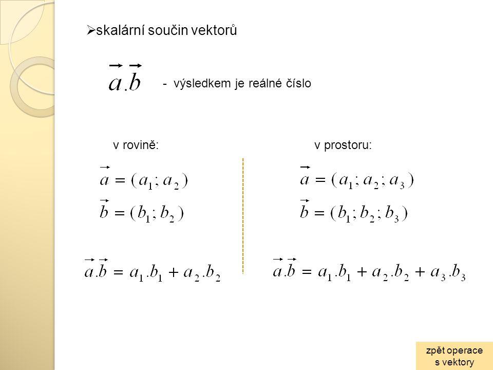 skalární součin vektorů