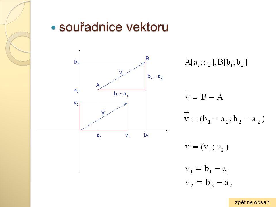 souřadnice vektoru zpět na obsah