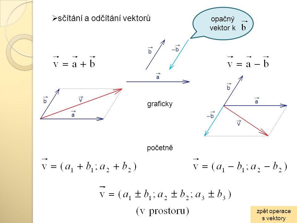 sčítání a odčítání vektorů