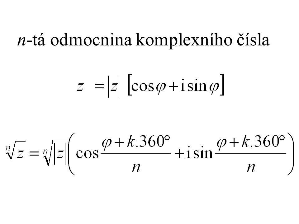n-tá odmocnina komplexního čísla