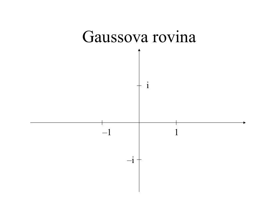 Gaussova rovina 1 –1 –i i