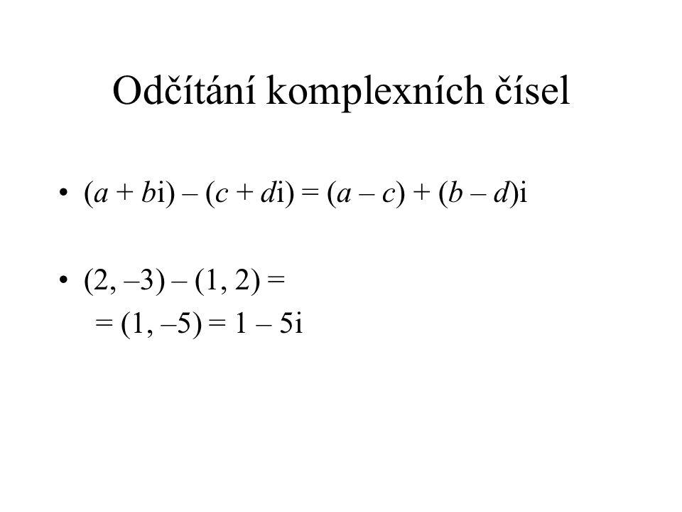 Odčítání komplexních čísel