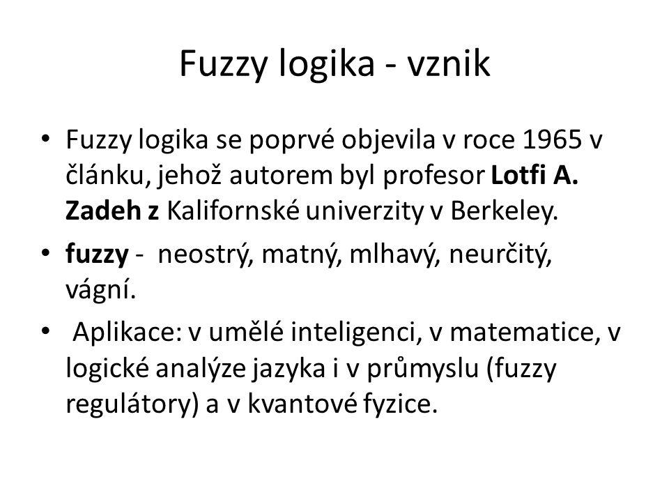 Fuzzy logika - vznik