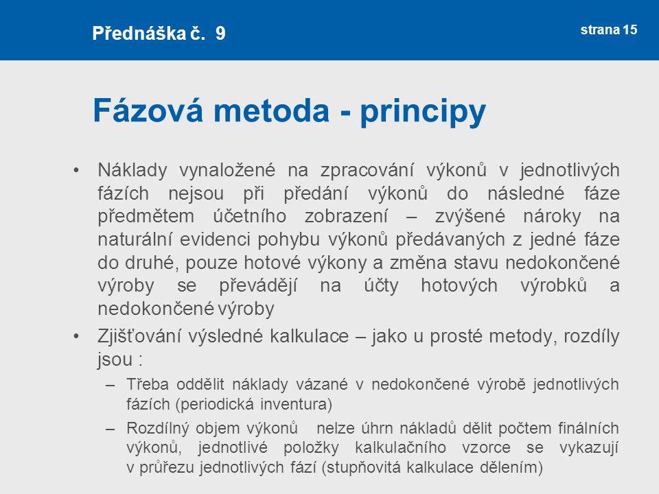 Fázová metoda - principy