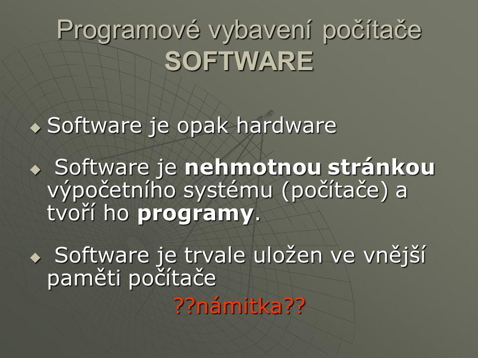 Programové vybavení počítače SOFTWARE