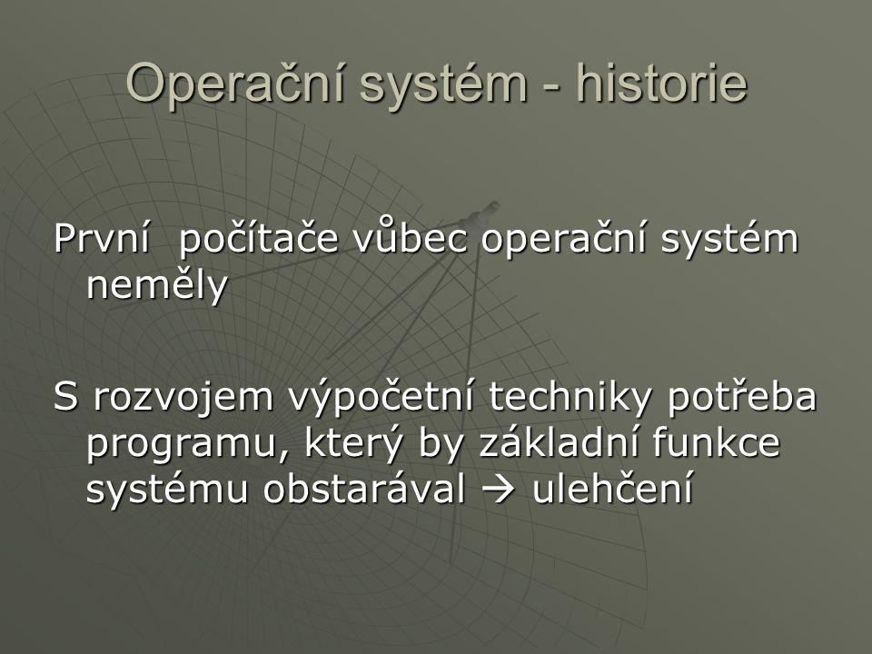 Operační systém - historie