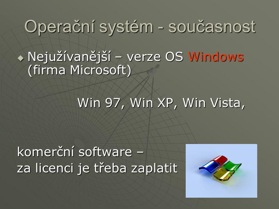 Operační systém - současnost