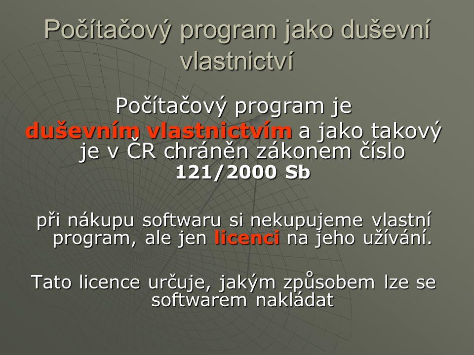 Počítačový program jako duševní vlastnictví