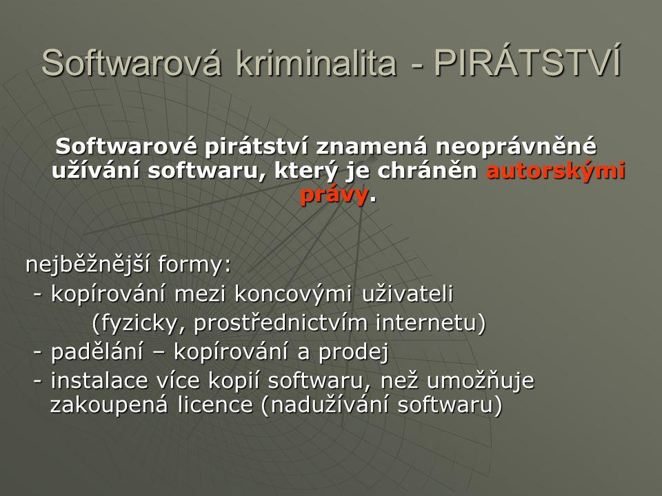 Softwarová kriminalita - PIRÁTSTVÍ