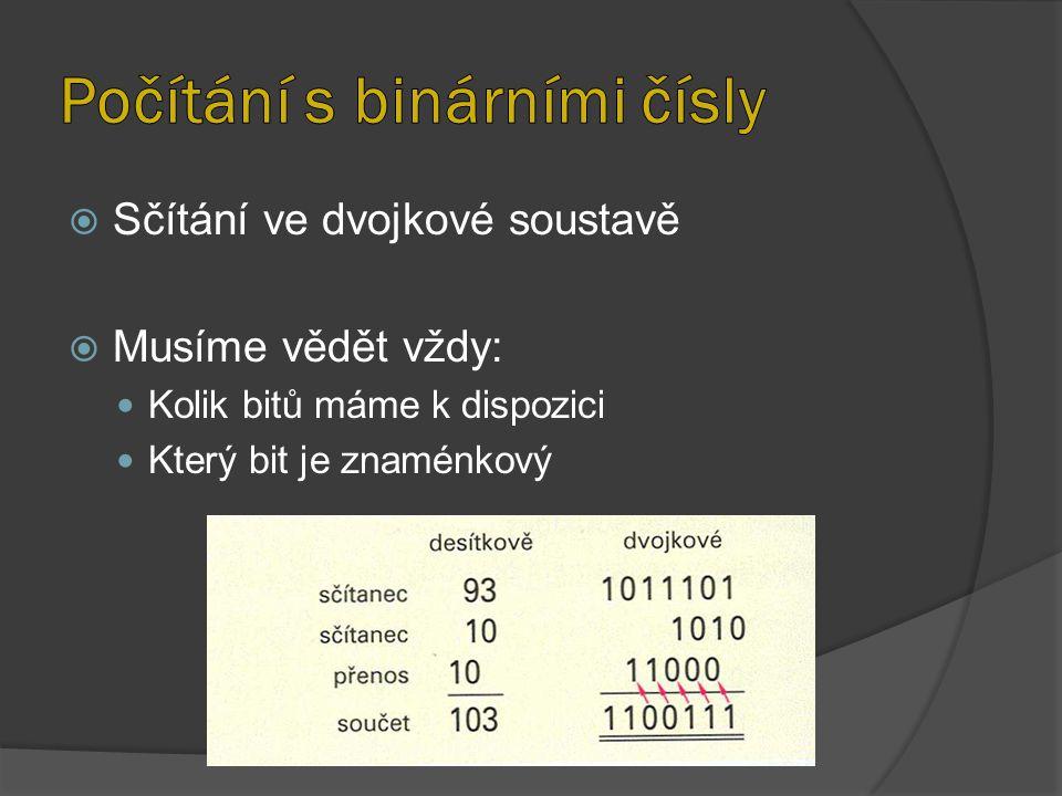 Počítání s binárními čísly