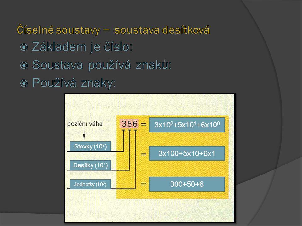 Číselné soustavy – soustava desítková