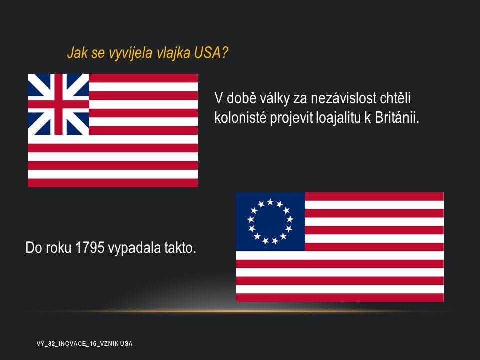 Jak se vyvíjela vlajka USA