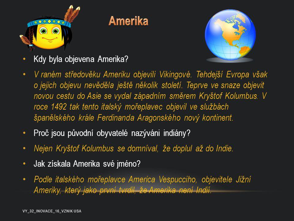Amerika Kdy byla objevena Amerika
