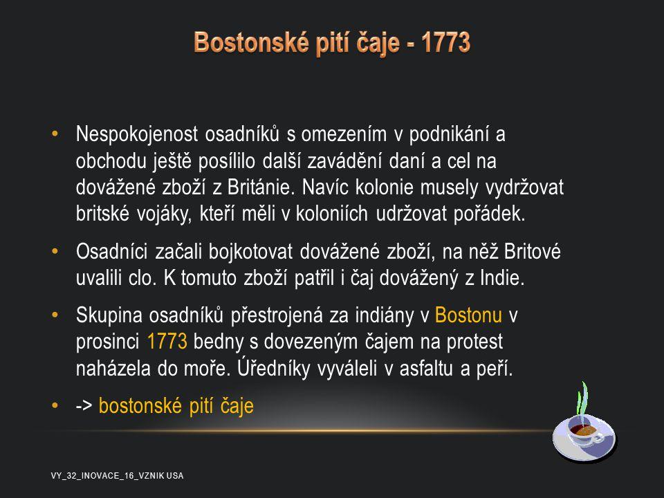 Bostonské pití čaje - 1773