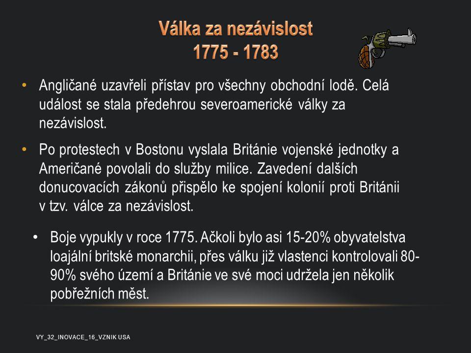 Válka za nezávislost 1775 - 1783