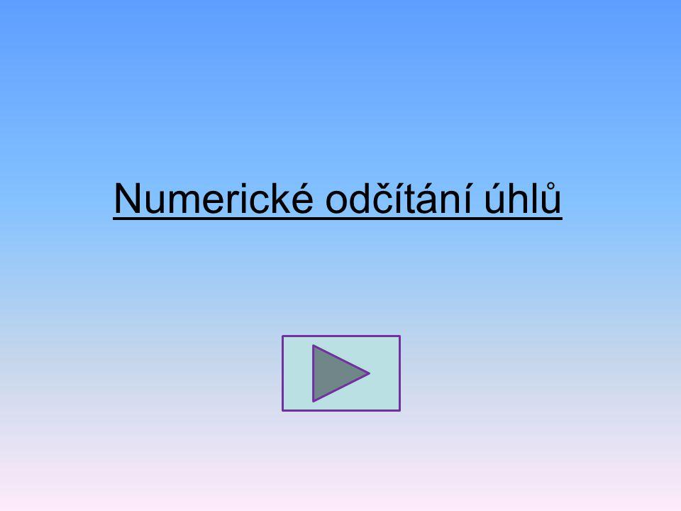 Numerické odčítání úhlů