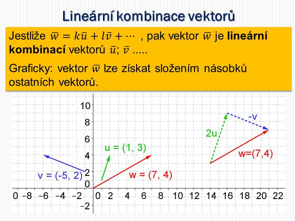 Lineární kombinace vektorů