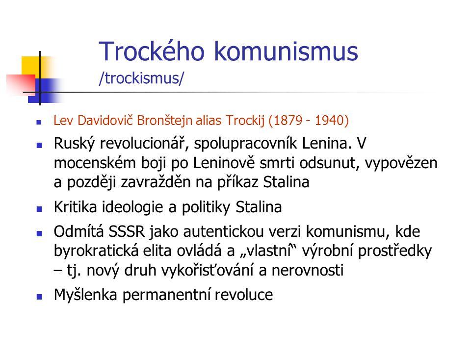 Trockého komunismus /trockismus/