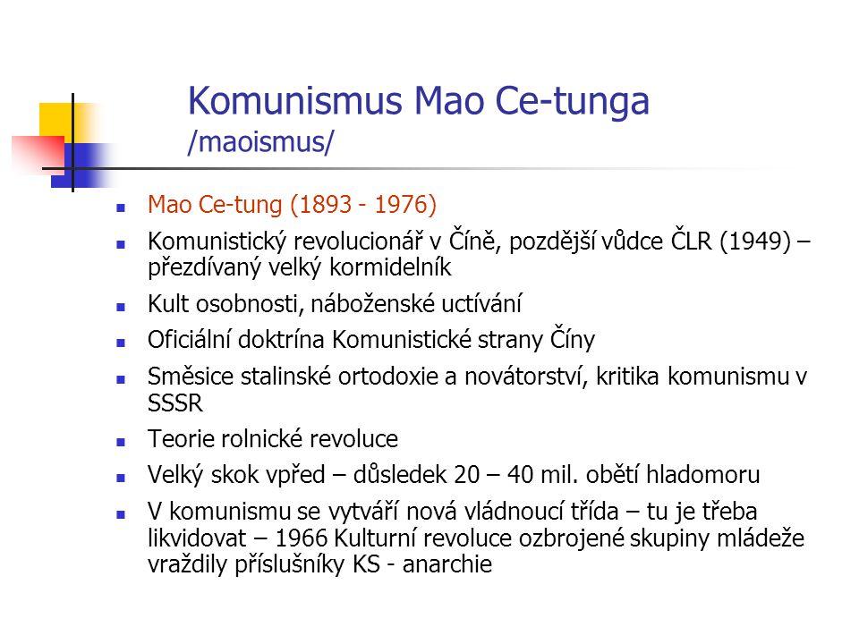 Komunismus Mao Ce-tunga /maoismus/