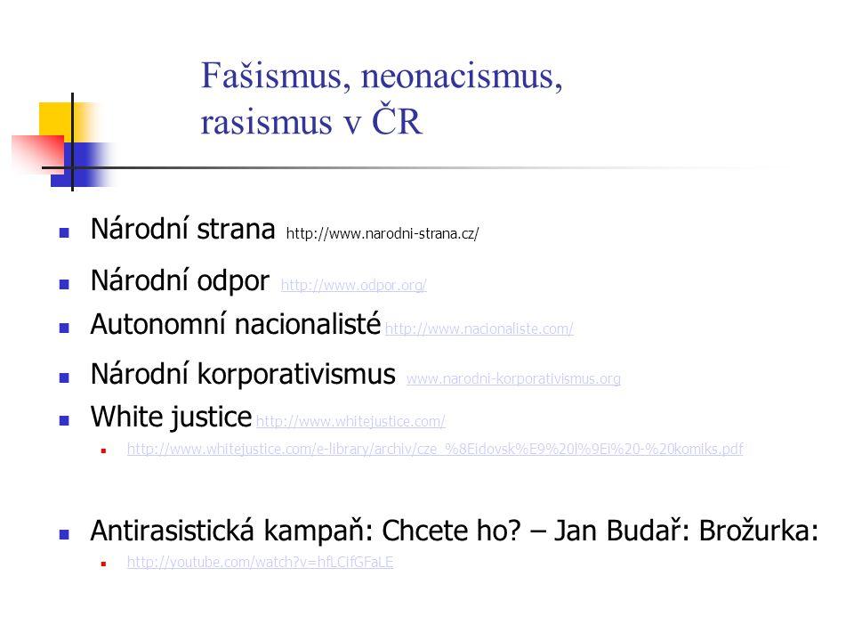 Fašismus, neonacismus, rasismus v ČR
