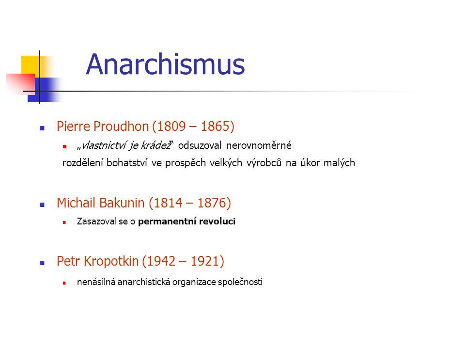 Anarchismus Pierre Proudhon (1809 – 1865)