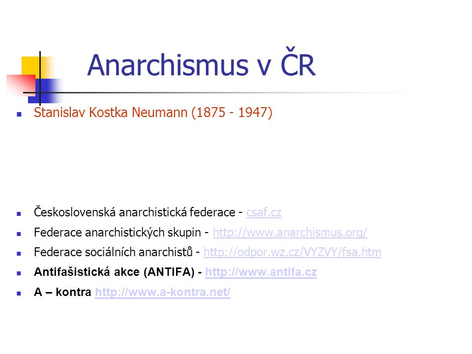 Anarchismus v ČR Stanislav Kostka Neumann (1875 - 1947)