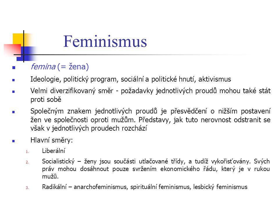 Feminismus femina (= žena)