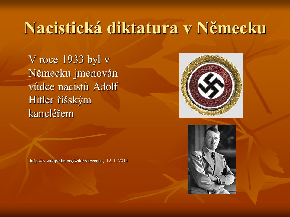 Nacistická diktatura v Německu