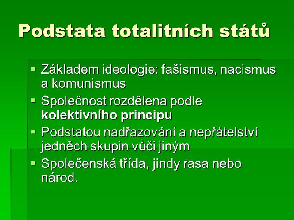 Podstata totalitních států