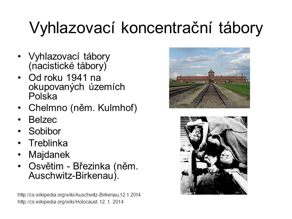 Vyhlazovací koncentrační tábory