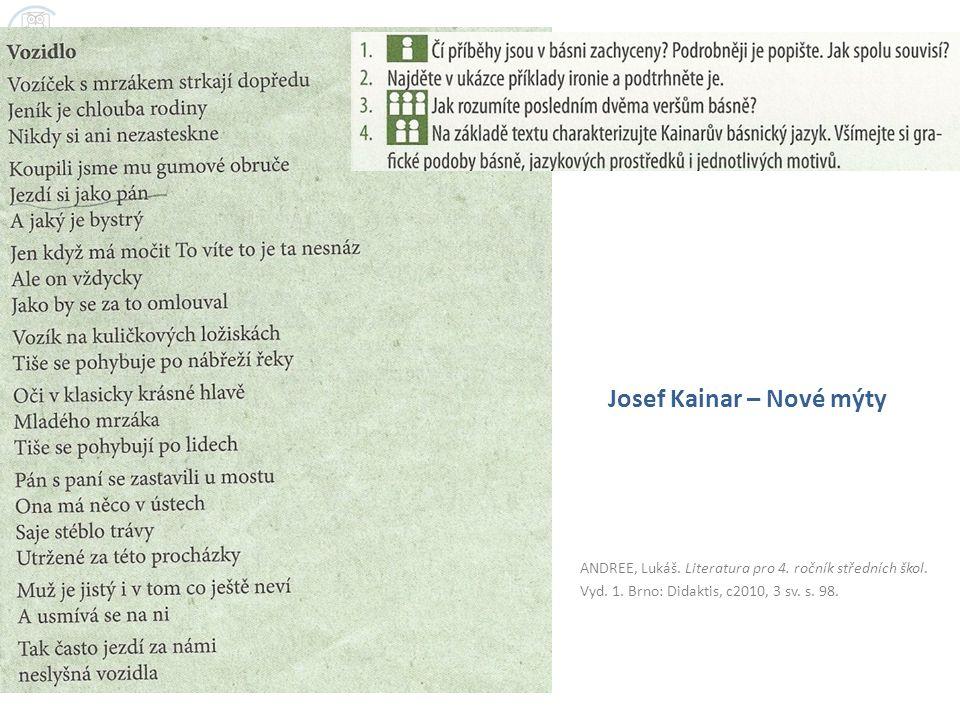 Josef Kainar – Nové mýty