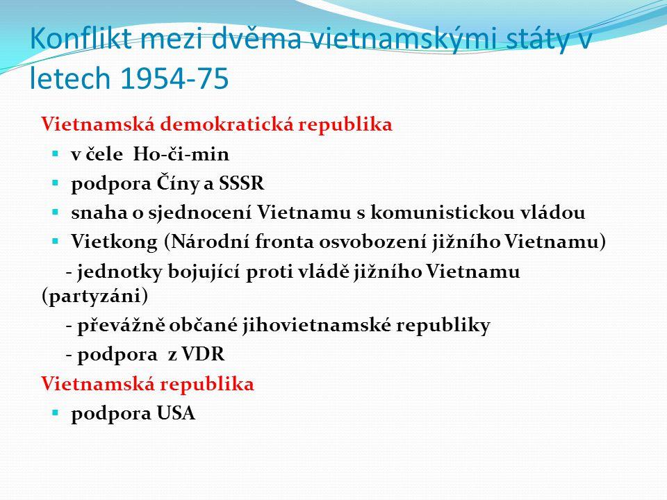 Konflikt mezi dvěma vietnamskými státy v letech 1954-75