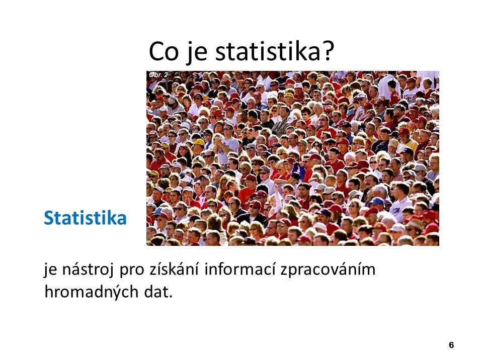 Co je statistika Statistika