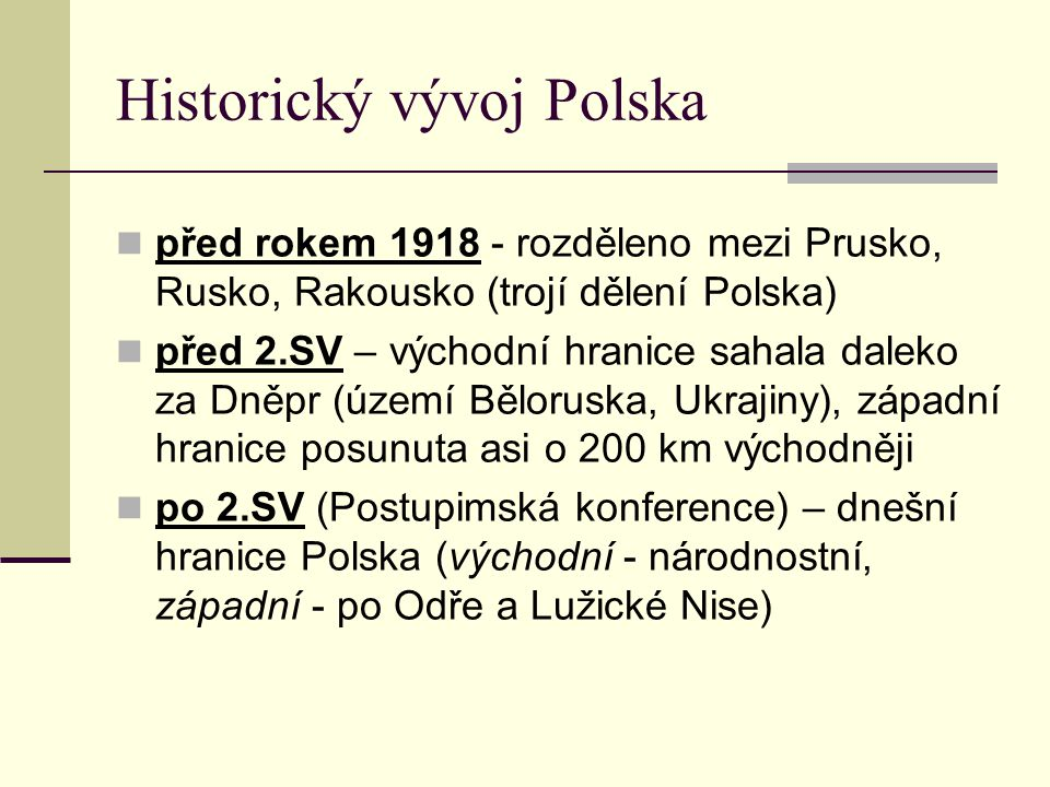 Historický vývoj Polska